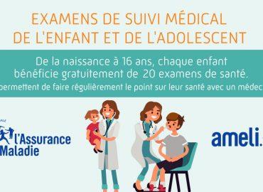 Examens de suivi médical de l'enfant et de l'adolescent