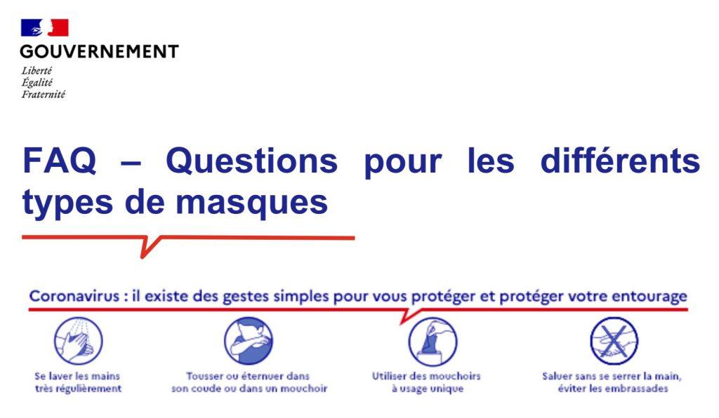 FAQ – Questions pour les différents types de masques